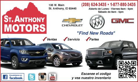 St. Anthony Motors - Chevy, Buick, GMC / Click Here for Inventory