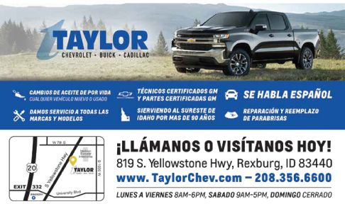 Taylor Chevrolet - Buick - Cadillac / Click Here for Inventory