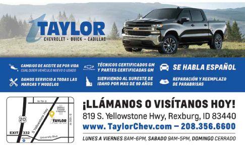 Taylor Chevrolet Buick Cadillac Click Here For Inventory Buena Vista Hispanic Guide Of Idaho