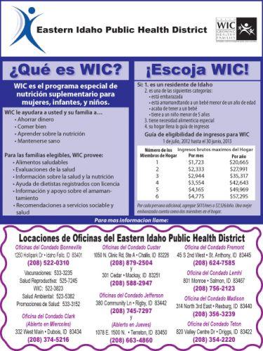 Eastern Idaho Public Health District - WIC