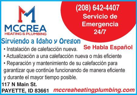 McCrea Heating and Plumbing - Calefacción