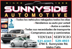Sunnyside Automotive - Used Dodge Ford GMC in Idaho Falls ID