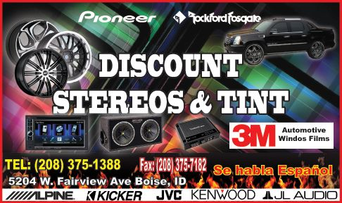 Discount Stereos and Tint