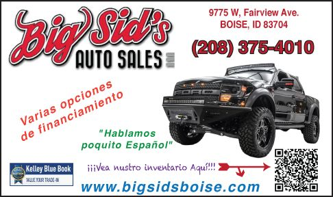 Big Sid's Auto Sales • Click Here for Inventory >
