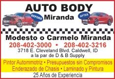 Miranda Auto Body