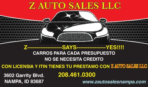 Z Auto sales LLC.